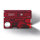 Swiss Card Lite, red translucent, 84mm