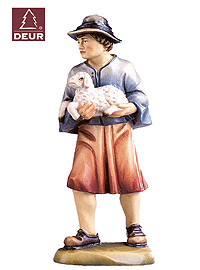 Farm Nativity Shepherd Boy with Sheep 3.54inch color