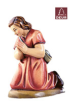 Farm Nativity Shepherdess kneeling 3.54inch color