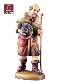 Farm Nativity Shepherd with Staff 3.54inch color