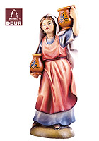 Farm Nativity Shepherdess carrying Water 3.54inch color