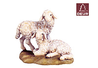 Farm Nativity Two Lambs 3.54inch color