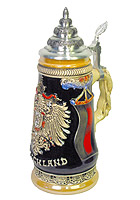 Beerstein Germany Stein German Eagle 1/2L 10inch