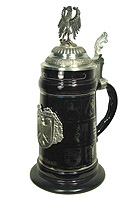 Good Old Germany Stein with Eagle and States, 10.43inch