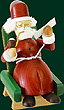 RG Smoker Santa Claus in armchair 5.1 inch