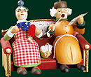 RG Smoker Granddad & Granny on the Couch, 5.1 inches