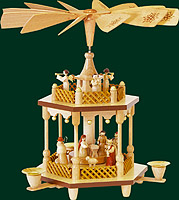 RG Pyramid 1-tier Nativity, 12.6 inches