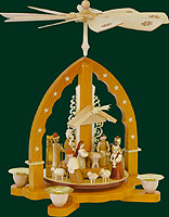 RG Pyramid Nativity, natural finish, 10 inches