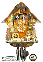 1-Day Music Cuckoo Clock Beerdrinker 12.6 in
