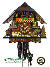 1-Day Cuckoo Clock Black Forest Chalet 8.3 in