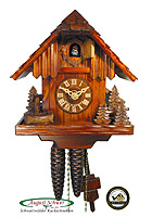 1-Day Cuckoo Clock Forest Cabin, 8.27inch