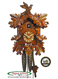 1-Day Cuckoo Clock 3 Sparrows, luxury, 10.24inch