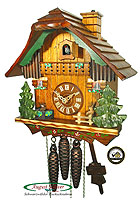 1-Day Cuckoo Clock Rabbit & Groundhog, 10.2inch