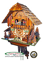 1-Day Music Cuckoo Clock Black Forest Mill, 13inch