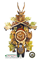 8-Day Carving Cuckoo Clock Hunting Clock, color 23.2inch