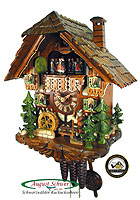 1-Day Music Cuckoo Clock The Wanderer, 13.4inch