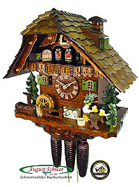 8-Day Cuckoo Clock Chalet Music: The Two Beerdrinkers, 15.7inch