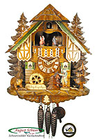 1-Day Music Cuckoo Clock Hunter Heinrich, 13.8 inch