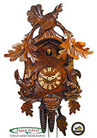 1-Day Carving Cuckoo Clock Mountain Cock, 14.17in