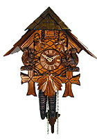 1-Day Cuckoo Clock Squirrel Chalet, 9.4inch