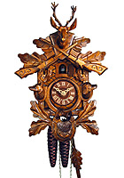 1-Day Cuckoo Clock The Hunting Dogs, 11.4 in