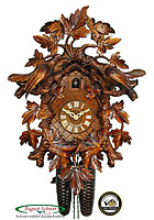 8-Day Luxury Carving Cuckoo Clock, 16.5inch