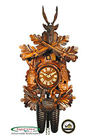 8-Day Carving Clock Hunting Clock, 16.14inch