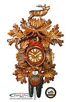 8-Day Carving Cuckoo Clock The Stag 22.5 inch