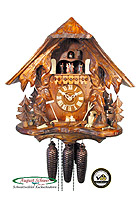 8-Day Music Cuckoo Clock Chalet Vines & Birds 16.5inch