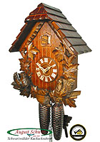 8-Day Cuckoo Clock: Chalet with Pointed Roof, 13.8inch