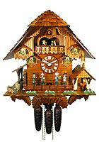 8-Day Chalet Musik Cuckoo Clock: Music Band, 17.3 inch