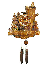 Wall Clock Old Oak Line Pony-Vroni 13.4 inch