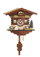 Kuckulino Quartz Clock Swiss Chalet with Pendulum, 7.1inch