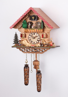 Quartz Cuckoo Clock turning  dancers 12,8 inch