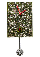 Cuckoo Clock Silhouette green, Quarz-Movement, 11.4inch